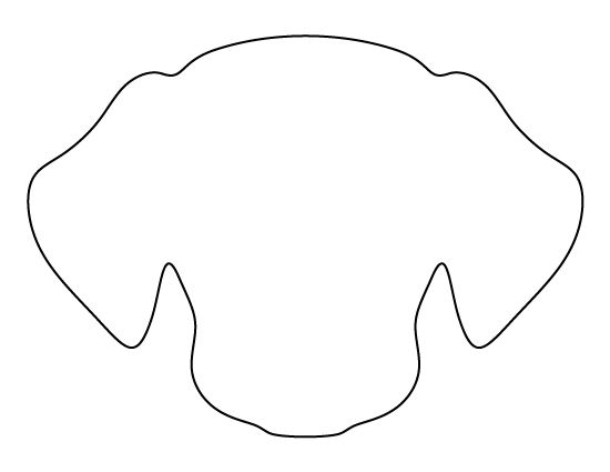 Cocker Spaniel pattern Use the printable outline for crafts - blank outline template