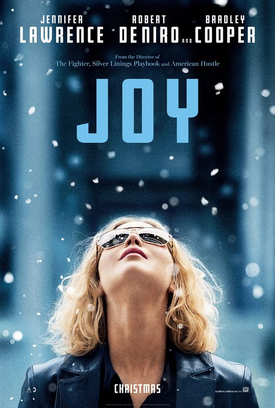 Things are looking up for Jennifer Lawrence in the latest poster for David O. Russell's Joy, a drama that chronicles one woman's life from age 10 to 40 that also stars fellow Russell favorites Bradley Cooper and Robert De Niro.