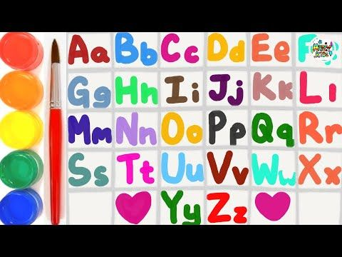 Learn Alphabets Big Letter And Small Letter For Kids And Toddlers. |Happy  Kids ♥️ #coloring - YouT… Letters For Kids, Learning The Alphabet, Art  Videos For Kids