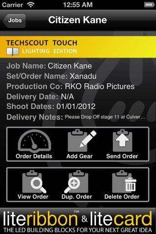 Tech Scout Lighting App