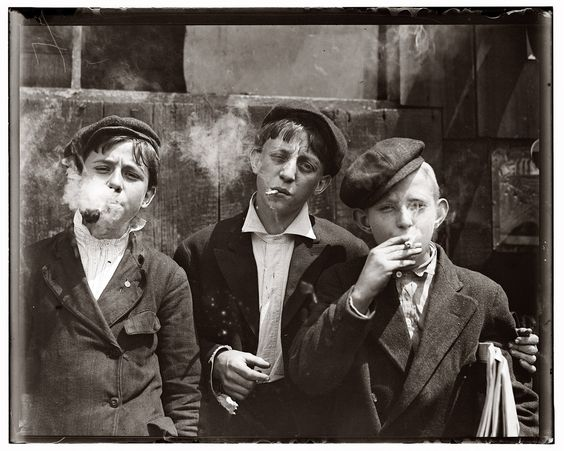 St. Louis, 1910. Long before being politically correct mattered. Fear not the dangers of first hand smoke and children!