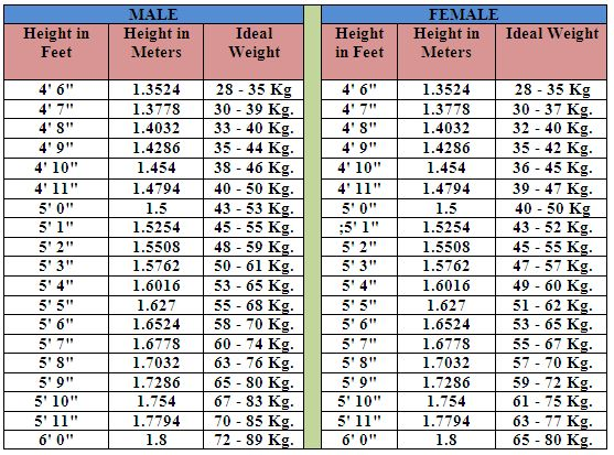 BMI_Chart1.png (557×413) | A Healthy Lifestyle | Pinterest | The o ...