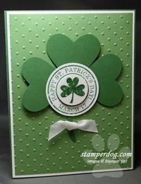 So You Like St. Patrick's Day! - Stampin' Up! Demonstrator Ann M. Clemmer & Stamper Dog Card Ideas