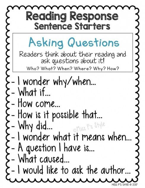 Pin On Reading Comprehension 1st grade sentence starters