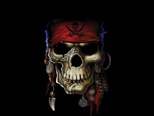 wallpaper skull bones pirate - photo #2