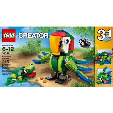 LEGO Creator Rainforest Animals Comes With 215 Pieces