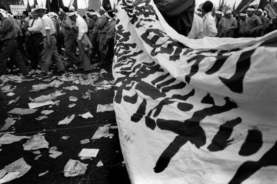 Rene Burri May Day demonstration.