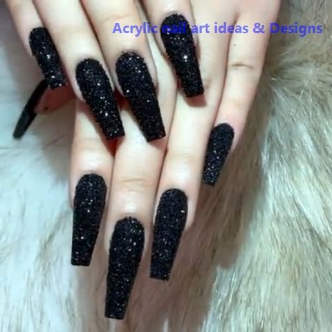 20 Great Ideas How To Make Acrylic Nails By Yourself 1 Nails Nailideas In 2020 Best Acrylic Nails Black Acrylic Nails Halloween Acrylic Nails