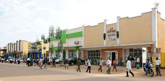 Main road at Butare, Rwanda