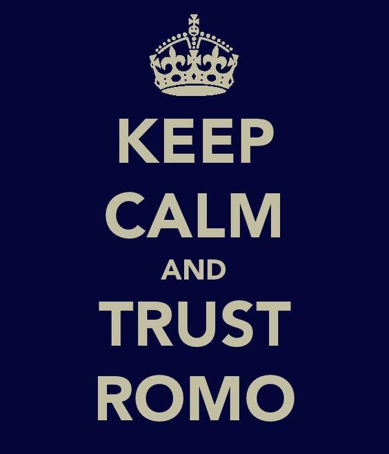 Trust in Tony Romo!   RePin if you agree!