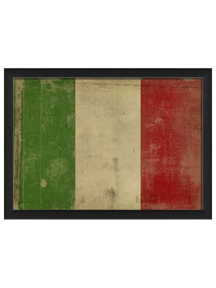 Italian Flag by Artwork Enclosed at Gilt