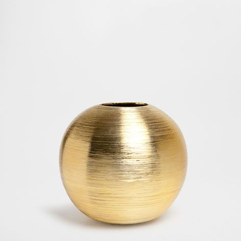 ZYLINDRISCHE VASE MIT STREIFEN - Vasen - Dekoration   Zara Home Deutschland