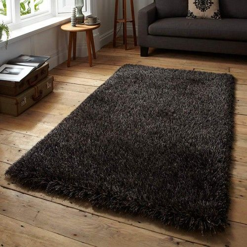 Monte Carlo Black Brown Shaggy 24 Now Land Of Rugs Home