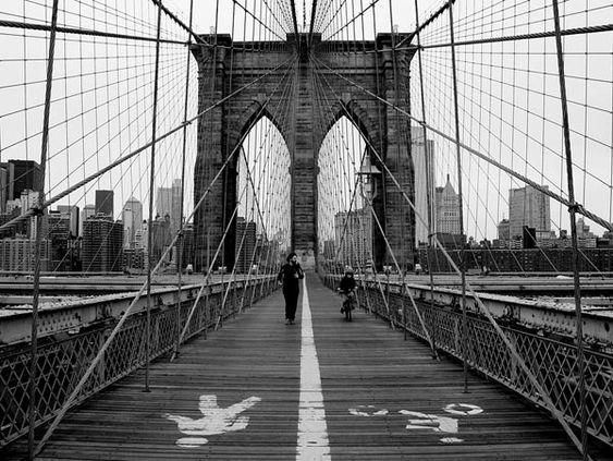 I love walking the Brooklyn Bridge