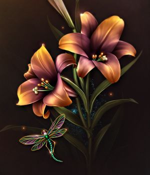 Moonbeam's fall Lilies 2D Merchant Resources moonbeam1212: