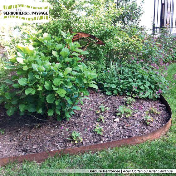 Bordure de jardin en t le acier galvanis ou t le acier for Bordure metal pour jardin