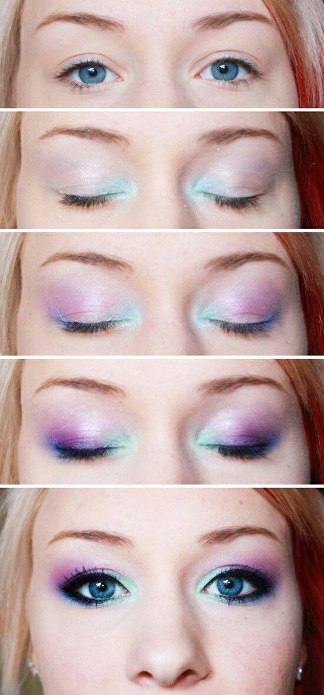Diy Unicorn Makeup Diy Cuteness Simple Eyeshadow Tutorial Simple Eyeshadow Eyeshadow Tutorial