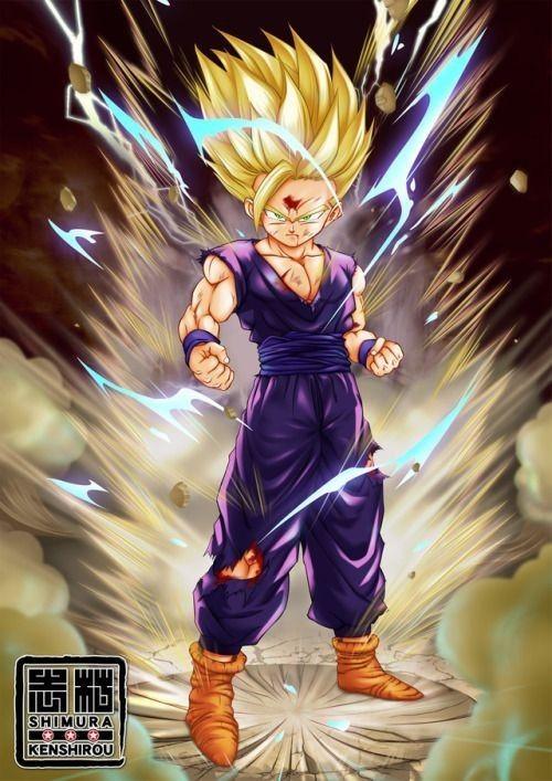 San Gohan Super Saiyan 2 Gohan Ssj 2 Dragon Ball Image