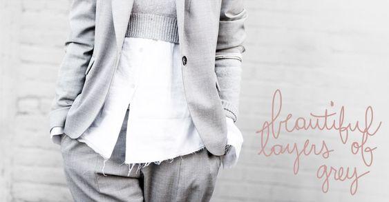 Beautiful Layers Of Grey   Garance Doré