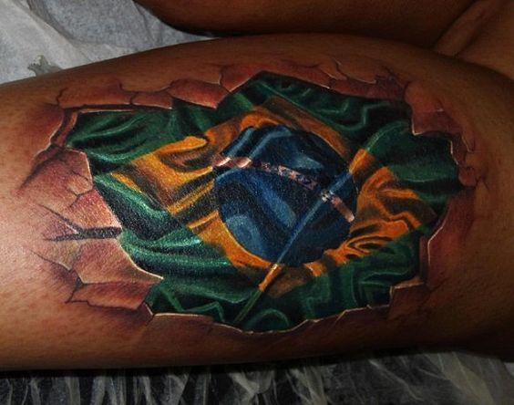 tatuagem bandeira do brasil brasil verde e amarelo pinterest. Black Bedroom Furniture Sets. Home Design Ideas