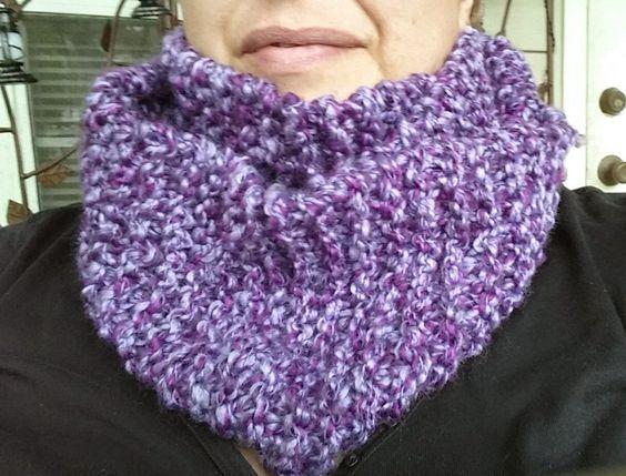 Purple Infinity Scarf by BeachBumKnits on Etsy