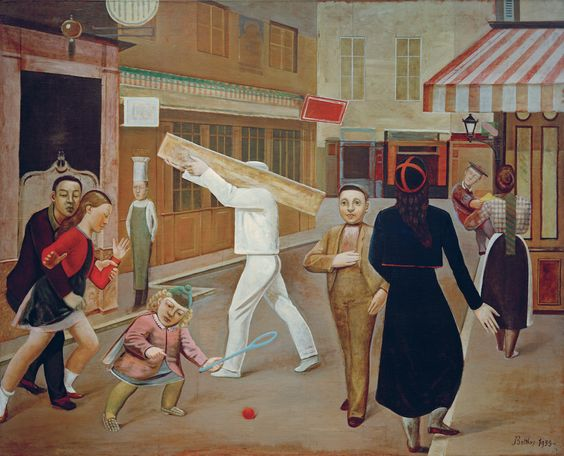 "Balthus, ""La Rue [The Street]"" (1933), oil on canvas, 195×240 cm. James Thrall Soby Bequest, inv. 1200.1979 New York, The Museum of Modern Art (Painting © Balthus, photo © Mondadori Portfolio/AKG Images"