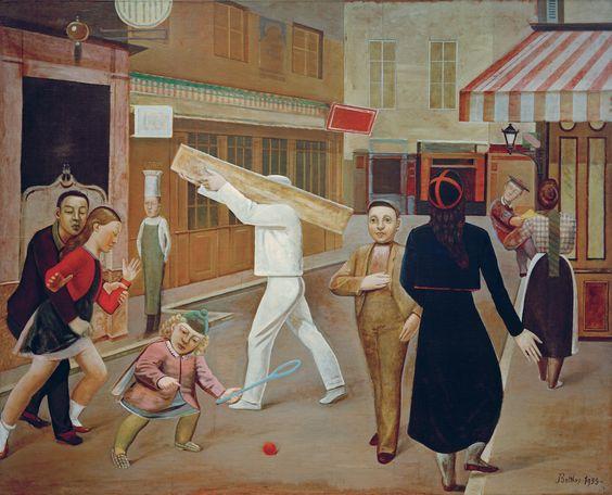 "Balthus, ""La Rue [The Street]"" (1933), oil on canvas, 195×240 cm. James Thrall Soby Bequest, inv. 1200.1979 New York, The Museum of Modern Art (Painting © Balthus, photo © Mondadori Portfolio/AKG Images"