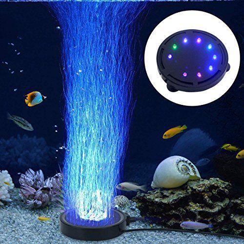 Londafish Aquarium Bubble Light Aquarium Air Stone Led Light Air Pump Bubble Stone Lamp Https Pets Boutiquecloset Bubble Lights Fish Tank Lights Stone Lamp