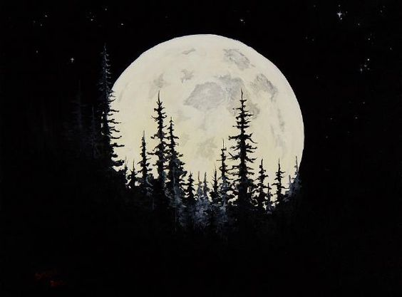 bob+ross+paintings+for+sale | Home > Paintings > bob ross paintings > bob ross rocky mountain moon ...