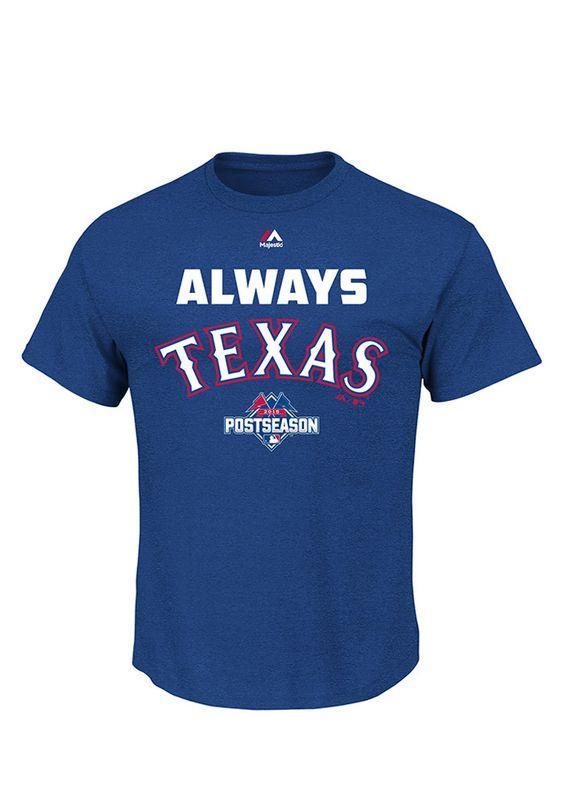 Texas Rangers 2015 Postseason Roadmark Triple Peak Tee http://www.rallyhouse.com/Texas-Rangers-2015-Postseason-Roadmark-Triple-Peak-Tee-Royal?utm_source=pinterest&utm_medium=social&utm_campaign=Pinterest-TexasRangers $26