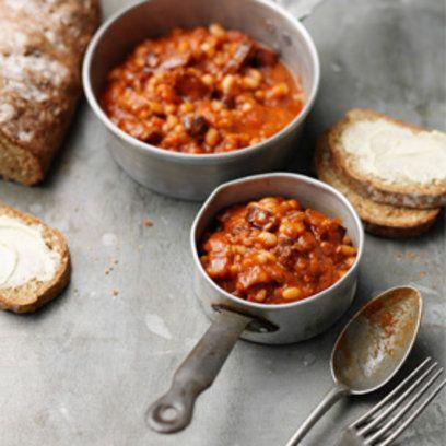 Tom Kerridge's proper baked beans recipe. For the full recipe, click the picture or visit RedOnline.co.uk