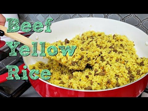 Ground Beef And Yellow Rice Recipe One Pot Meal Idea Simply Mama Cooks Youtube Yellow Rice Recipes Recipes Cooking