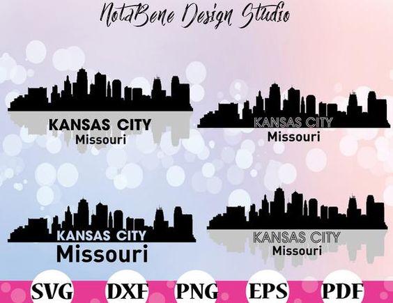 Skyline Kansas City Svg Missouri Skyline Cities Clipart Etsy In 2021 Kansas City Skyline City Silhouette Kansas City