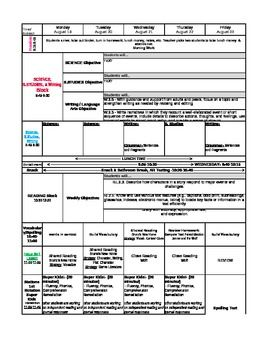 Best Common Core Lesson Plan Templates Images On Pinterest - Lesson plan template using common core standards