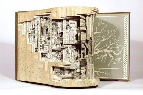 Incredible book art from Brian Dettmer