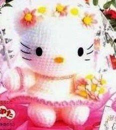 Free Crochet Pattern Heart Shaped Baby Doll : Amigurumi Hello Kitty Novia - Patron Gratis en Espanol (4 ...