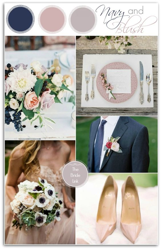 Navy And Blush Wedding Ideas For Winter So Formal Navy