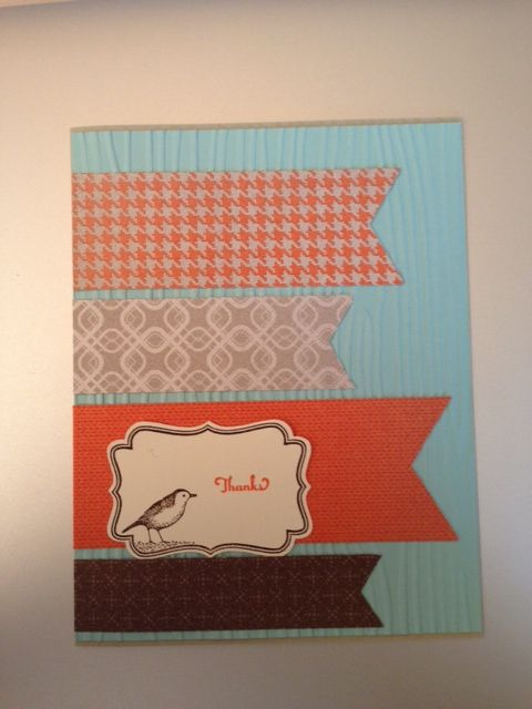 We love the cute banners on this card created by Donna Kraft.