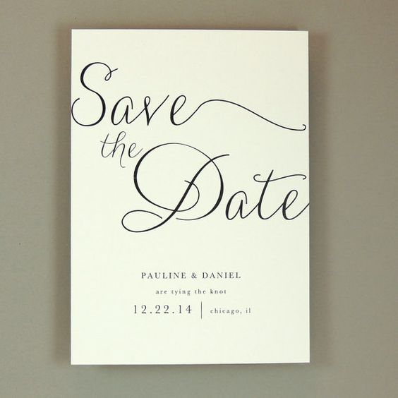 Pauline Suite - Modern Elegant Wedding Save the Date / Announcement - Classic Elegant Invite - Customizable Wedding Stationery - Sample