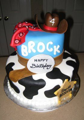 Awesome Cowboy cake! Maybe I should try my hand at it!