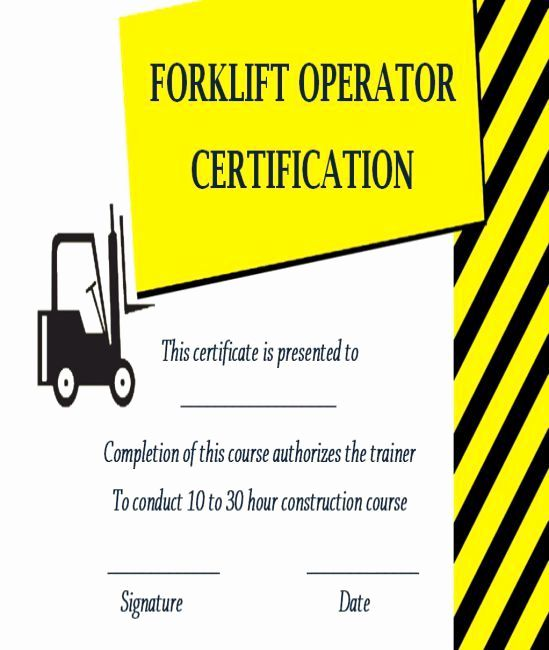 Forklift Training Certificate Template Inspirational 15 Forklift Certification Card Template For Train Certificate Templates Training Certificate Card Template