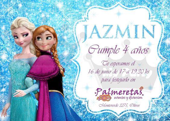 Invitaciones Cumpleaños Personalizadas Frozen X 25 Unid $ 99  Celebraciones Pinterest