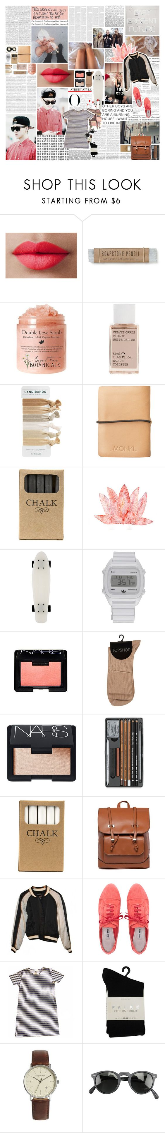 """""""i'm a sinner, i'm a liar. want forgiveness, but i'm tired. (let go i'm ready for it.)"""" by nevi ❤ liked on Polyvore featuring LORAC, Privileged, Korres, Olsen, Monki, Jayson Home, adidas, NARS Cosmetics, Isabel Marant and Miu Miu"""