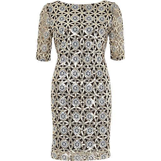 Silver sequin bodycon dress - bodycon dresses - dresses - women