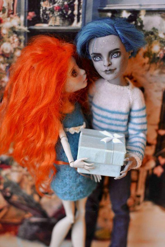 OOAK MonsterHigh Rochelle Goyle und Garrot Du Roque von AnnaShrem