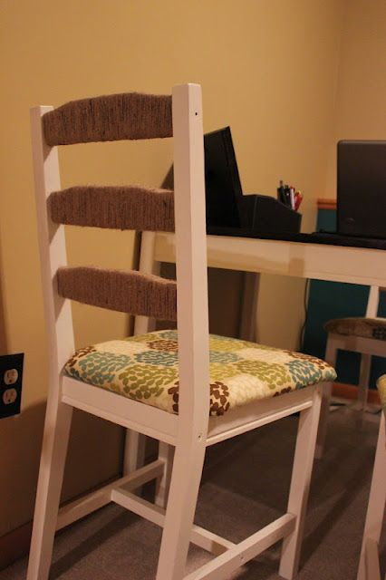 Ikea table and chair transformation. LOVE