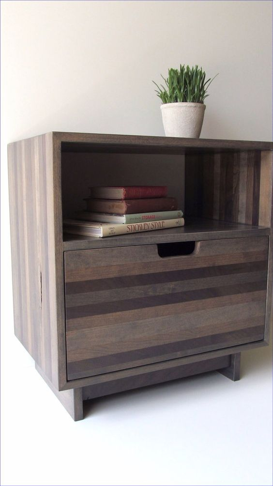 Reclaimed Wood Bedside Table by TheOffWhiteDog on Etsy