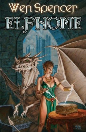 Elfhome.  Book 3 in the Elfhome series.  Looks fantasy but is really SF.  Elves, dragons... all real.  Living on different worlds/dimensions.  Technology links them all.