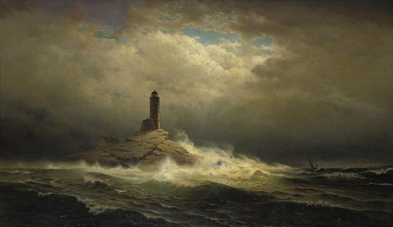 White Island Light, 1879, William Frederick de Haas