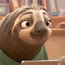 happy smile sloth zootopia
